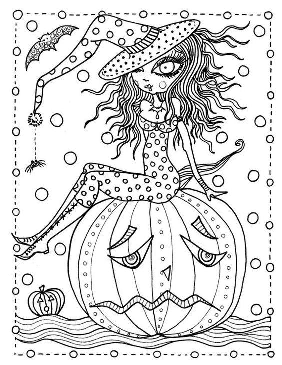 hannah lynn coloring pages | Dibujos de Halloween para colorear ...