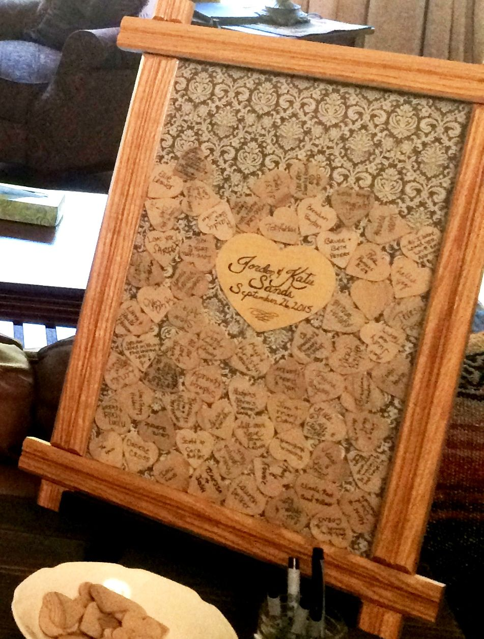 Frame u hearts to take the place of a guest book wedding diy