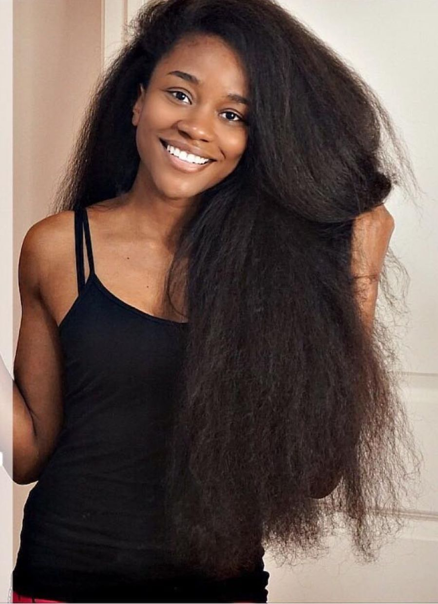 This Is An African American Woman Who Achieved Natural Long Hair