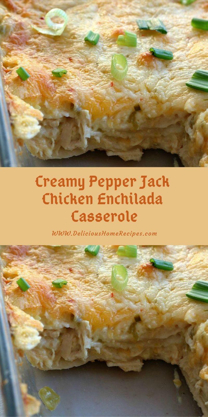 Creamy Pepper Jack Chicken Enchilada Casserole images