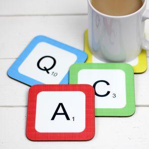 Personalised 'Scrabble Tile' Drink Coasters