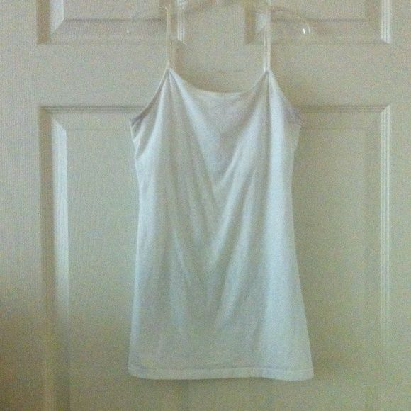 White Tank plain//stretchy//adjustable//double bra layer//no flaws Tops Tank Tops