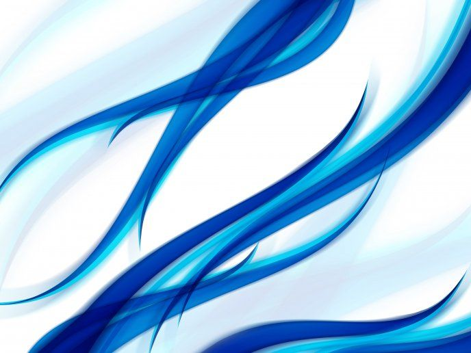 Abstract Shapes In Blue Color Digital Art Hd Desktop Mobile