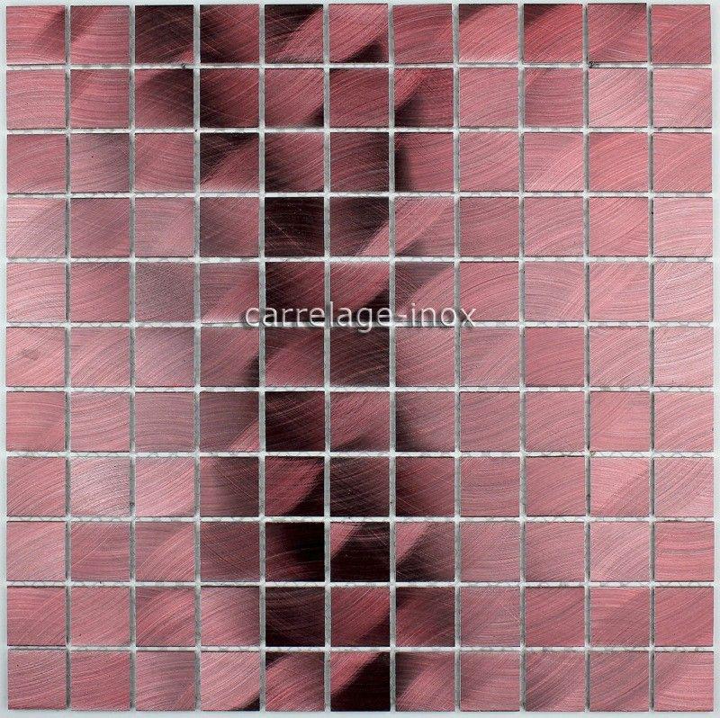 Credence Cuisine Aluminium Mosaique Douche Aluminium Cm-Unik