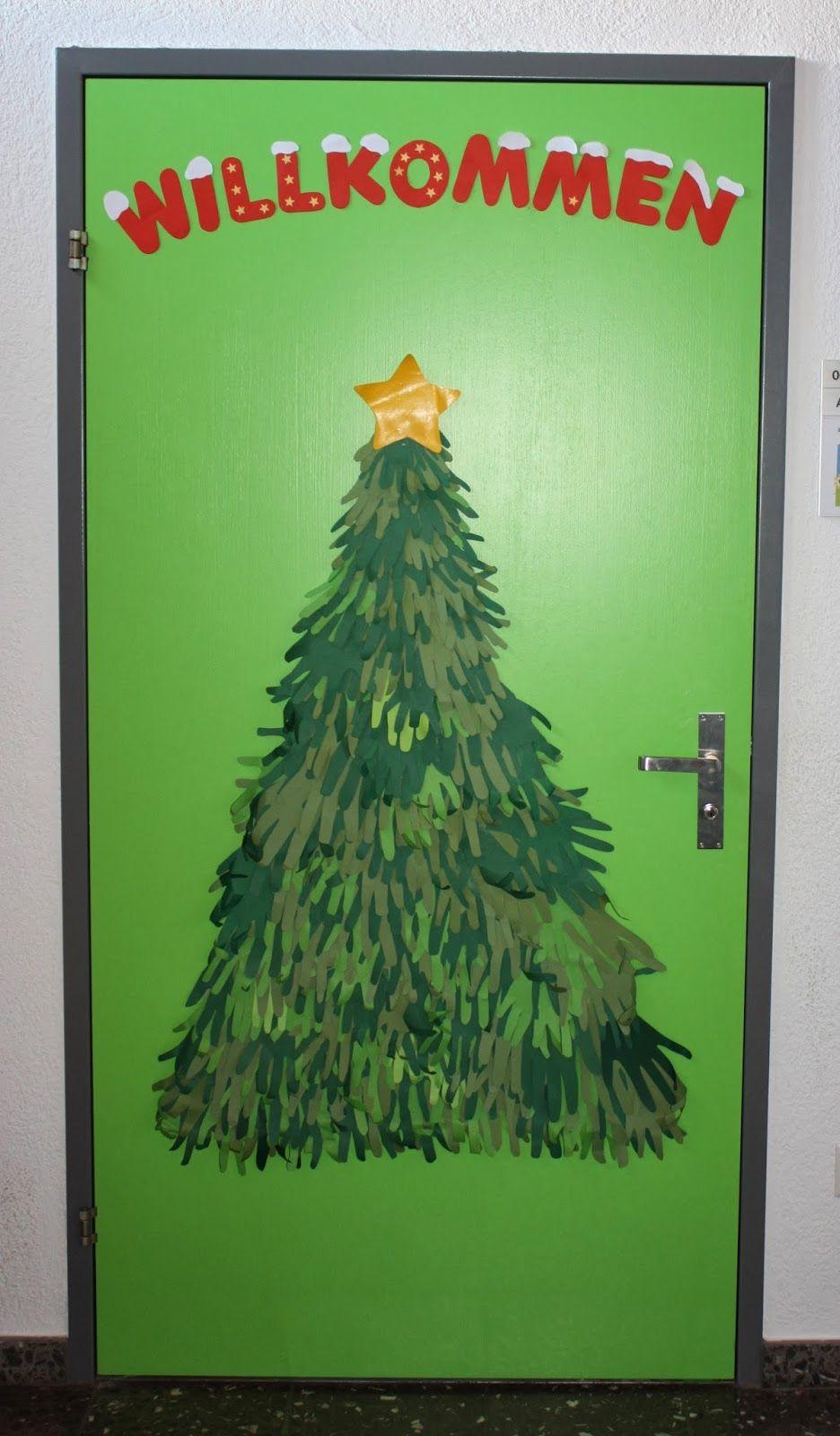 klassenkunst tannenbaum aus h nden weihnachten basteln weihnachten schule basteln. Black Bedroom Furniture Sets. Home Design Ideas