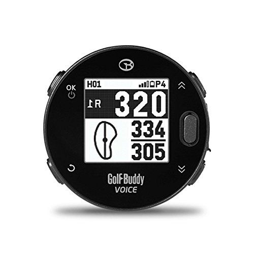 GolfBuddy Voicex EasytoUse Smart Talking Golf GPS, Black
