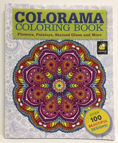 Colorama Coloring Book AS SEEN ON TV NEW Flowers Paisleys