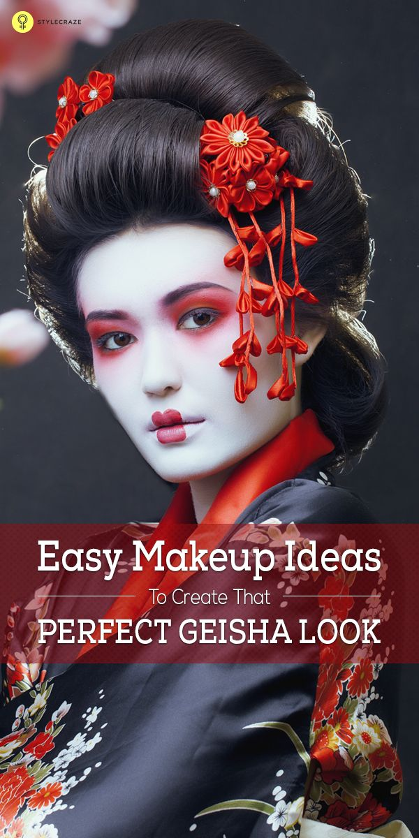 Easy Makeup Ideas To Create That Perfect Geisha Look | Easy makeup ...
