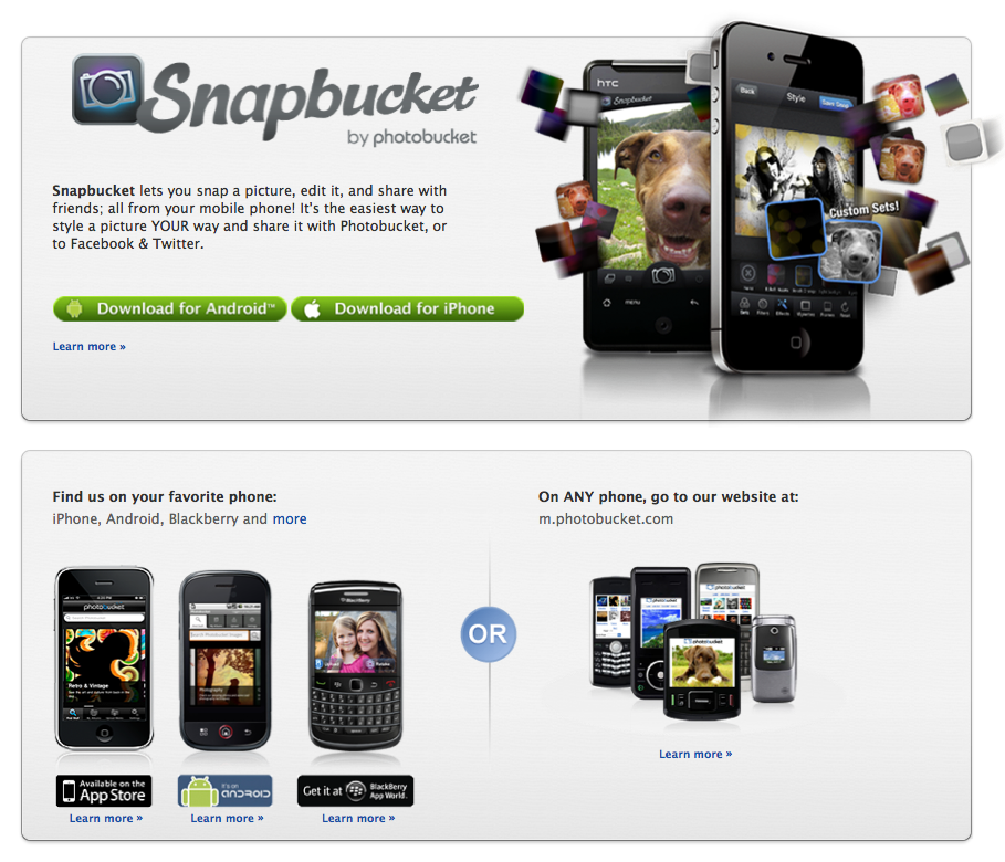Photobucket is mobile just like you! Get our free apps for