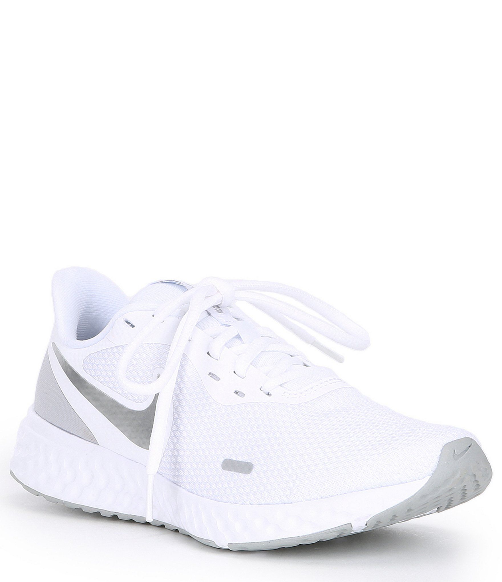 Nike Women 039 S Revolution 5 Running Shoe White Pure Platinum Wolf Grey 7 5m White Nike Shoes Nike Shoes Women Womens Tennis Shoes