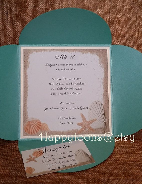 beach theme quinceañera invitation sea theme invitation sea shell