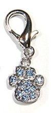 Blue Crystal Paw Charm