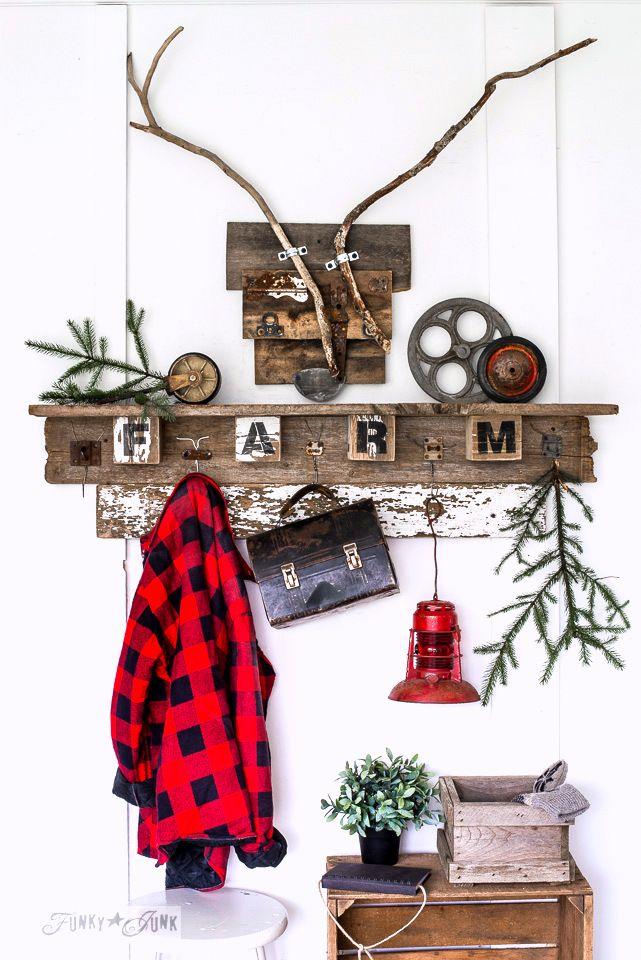 Interchangeable fall farm reclaimed wood coat hook shelf pinterest fil crocheter th mes - Les etageres funky d de quirky ...