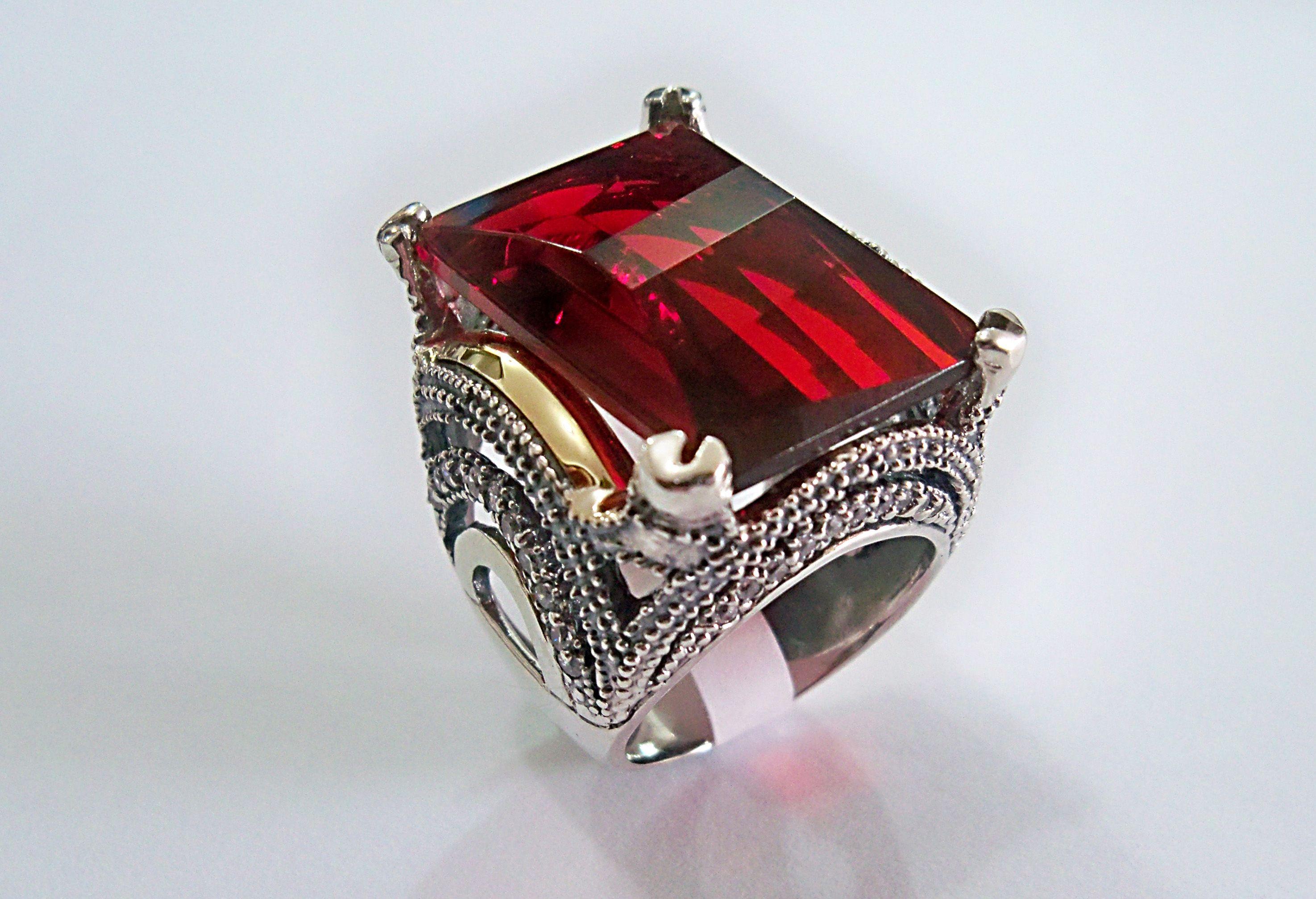 anillo en plata 924 con aplicacion en or