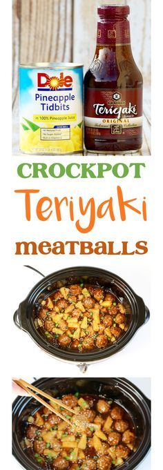 Crock Pot Teriyaki Meatballs Recipe! {Just 4 Ingredients} - The Frugal Girls #crockpotappetizers