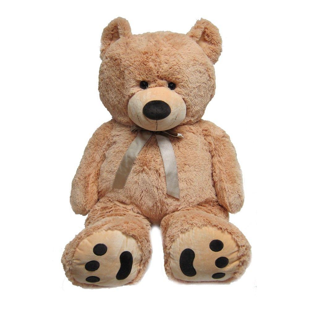 Joon Huge Teddy Bear With Ribbon Tan Giant teddy, Huge
