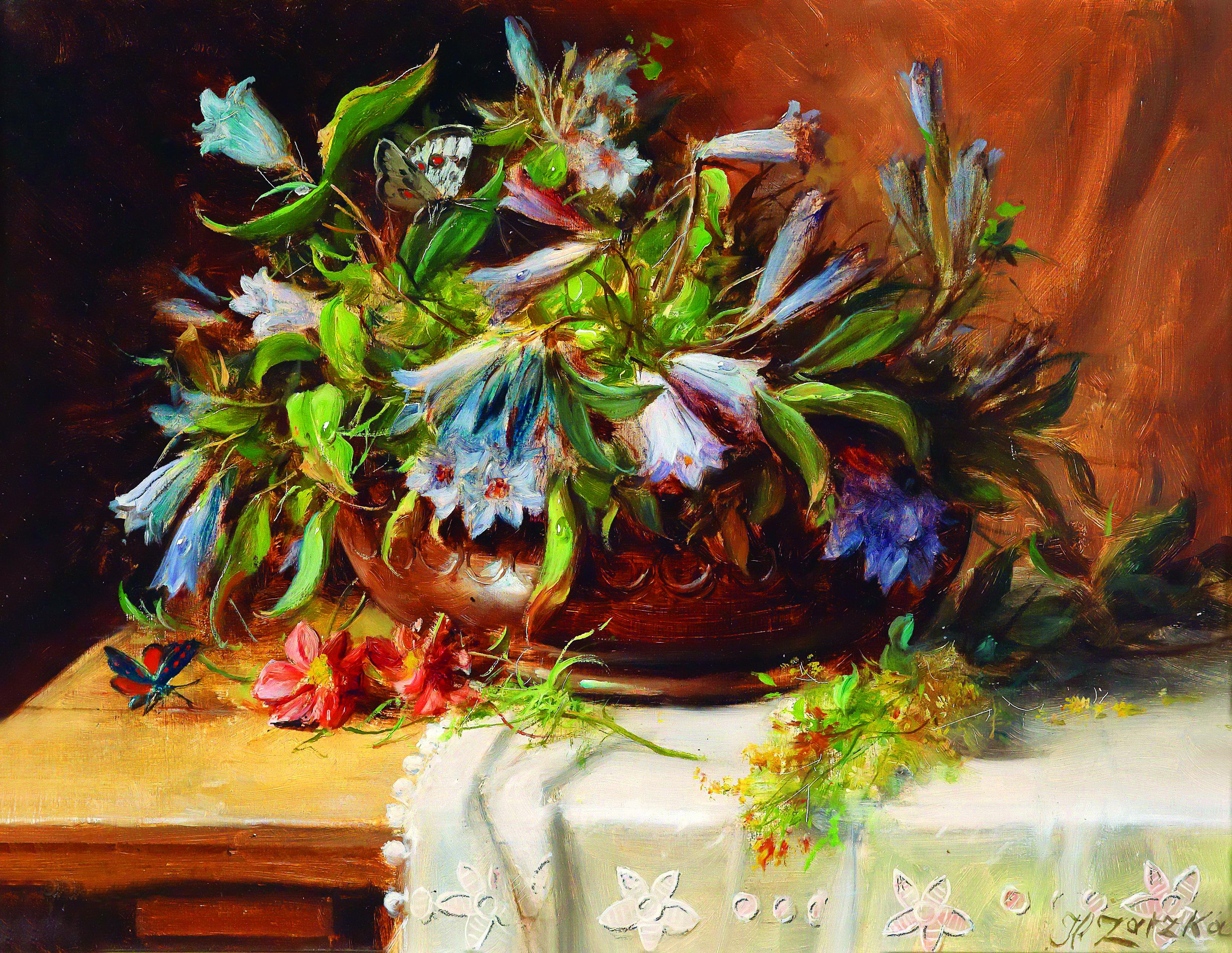 Hans Zatzka Kwiaty W Wazonie Reprodukcja Floral Art Paintings Flower Painting Painting