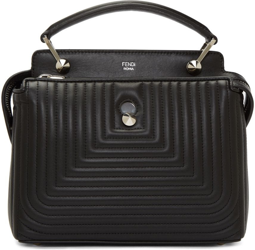 5db3fb7d065a9 Fendi - Black Quilted Dotcom Click Bag
