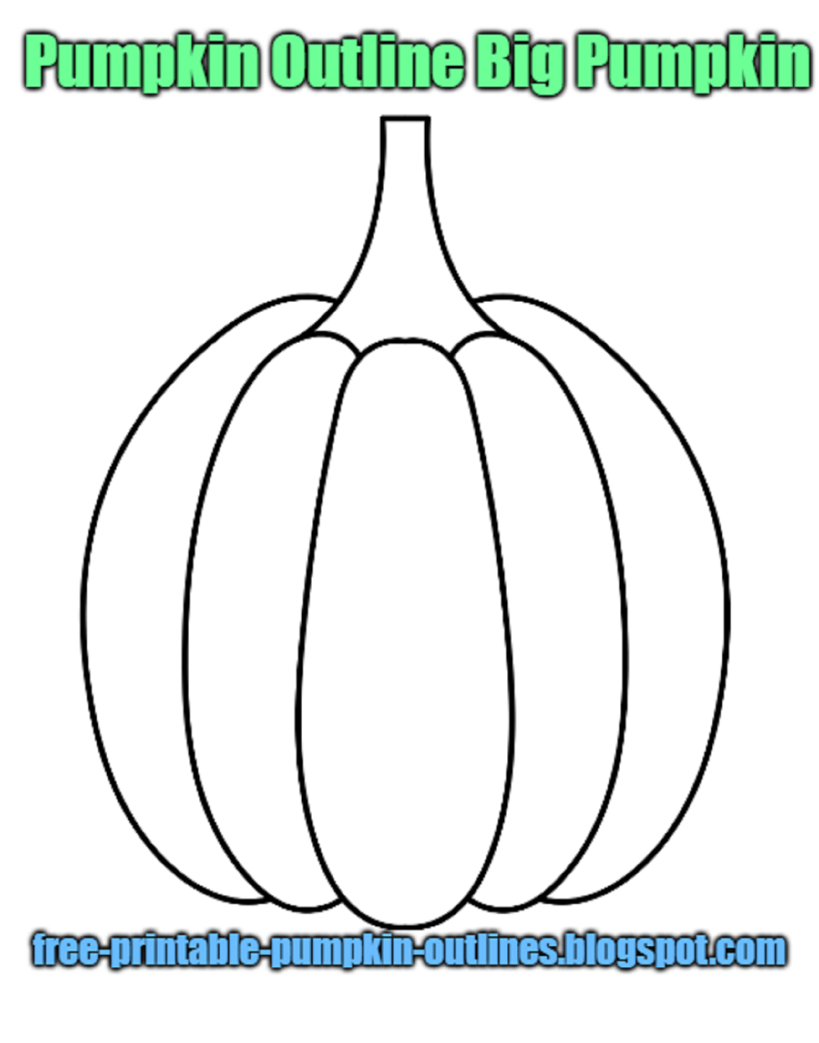 Pumpkin Outline With Face Simple Free Printable Pumpkin Outlines Pumpkin Outline Biggest Pumpkin Pumpkin