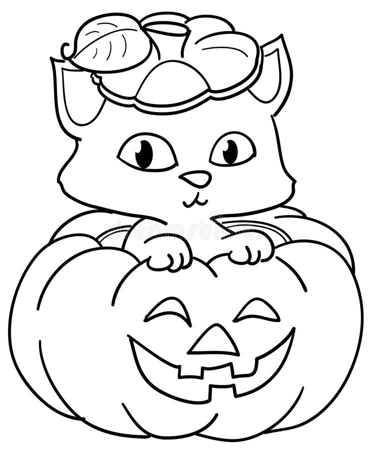 Pumpkin And Cat Coloring Page Youngandtae Com Pumpkin Coloring Pages Halloween Coloring Pages Cute Coloring Pages