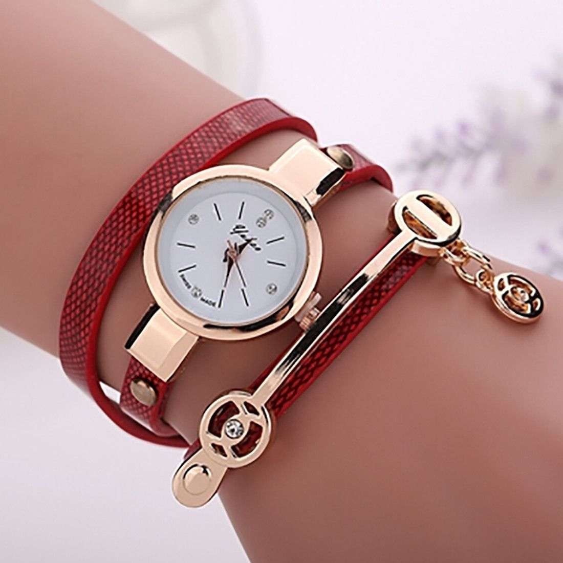 5be17bec71a Summer Style Leather Casual Bracelet Watch Wristwatch Women Dress Watches