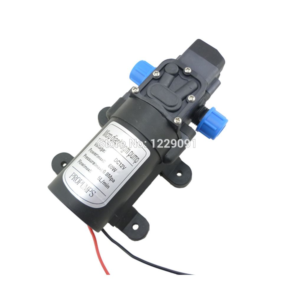 Dc 12 Volt 60w 5l Min Small Water Pump Automatic Pressure Switch For Cleaning Sprayer Irrigation Water Pumps Pumps Sale Diaphragm Pump