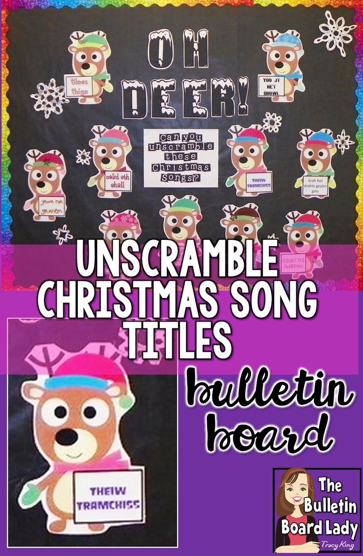 Oh Deer! Christmas Song Title Unscramble Bulletin Board