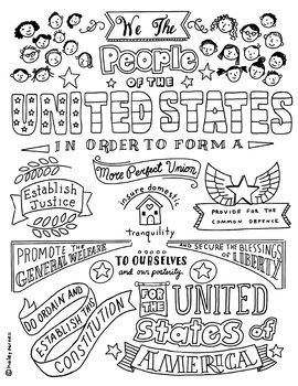 Photo of Preamble to the United States Constitution