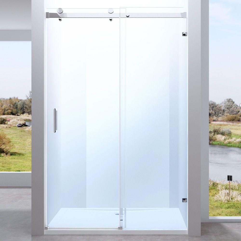 Echtglas rahmenlose Nischentür Dusche Duschabtrennung mit