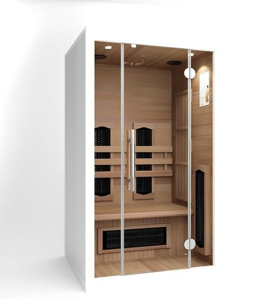 infrarotkabine w rmekabine infrarotsauna f r 2 personen 110 valero infrarotkabine f r 2. Black Bedroom Furniture Sets. Home Design Ideas