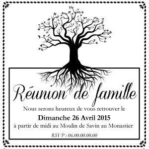 Tampon Invitation Réunion De Famille à Personnaliser 5 Cm