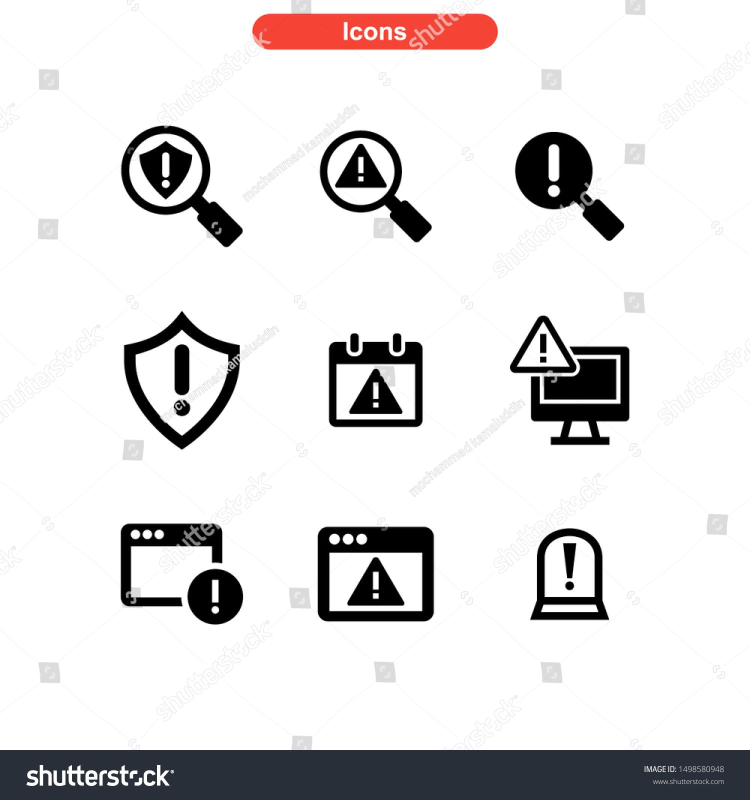 alert icon isolated sign symbol vector illustration