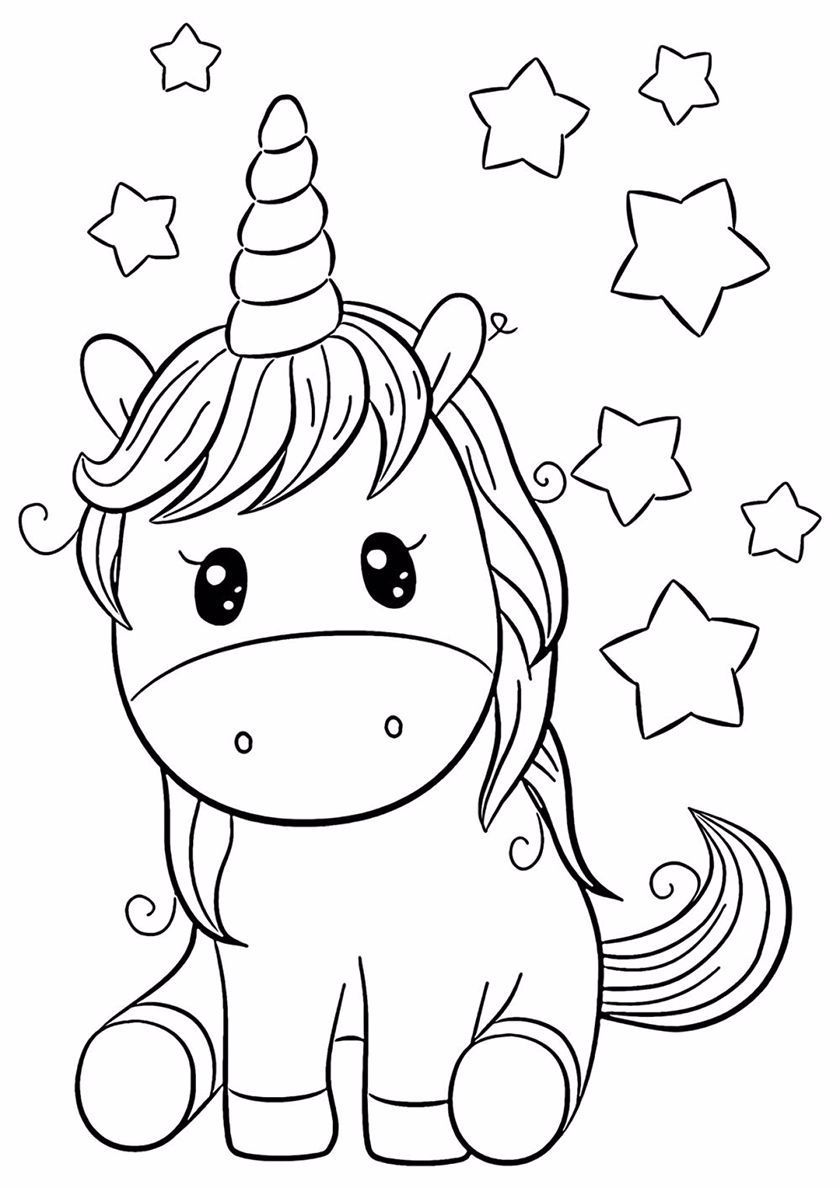 Childhood Dreams High Quality Free Coloring From The Category Unicorn More Printable Picture Baby Coloring Pages Cute Coloring Pages Unicorn Coloring Pages