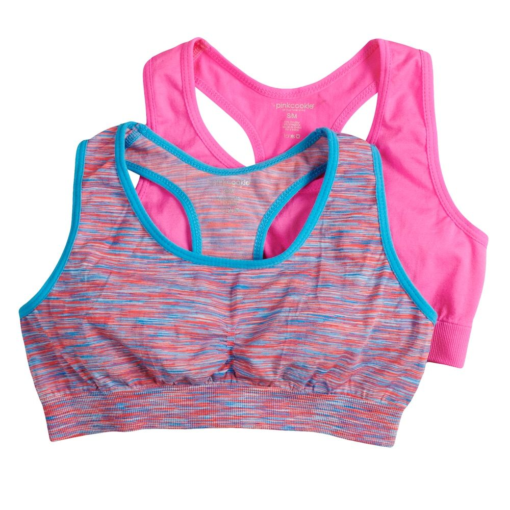 Girls 716 Pink Cookie 2pack SpaceDyed Seamless Sports
