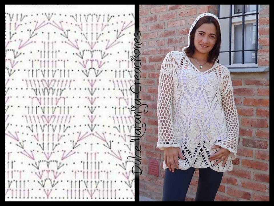 Sweaters con capucha | Patrones de Crochet | Pinterest | Suéteres ...