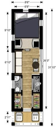 Tiny House Interior Floor Plan good ideas re: a small floorplan appropriate for two people