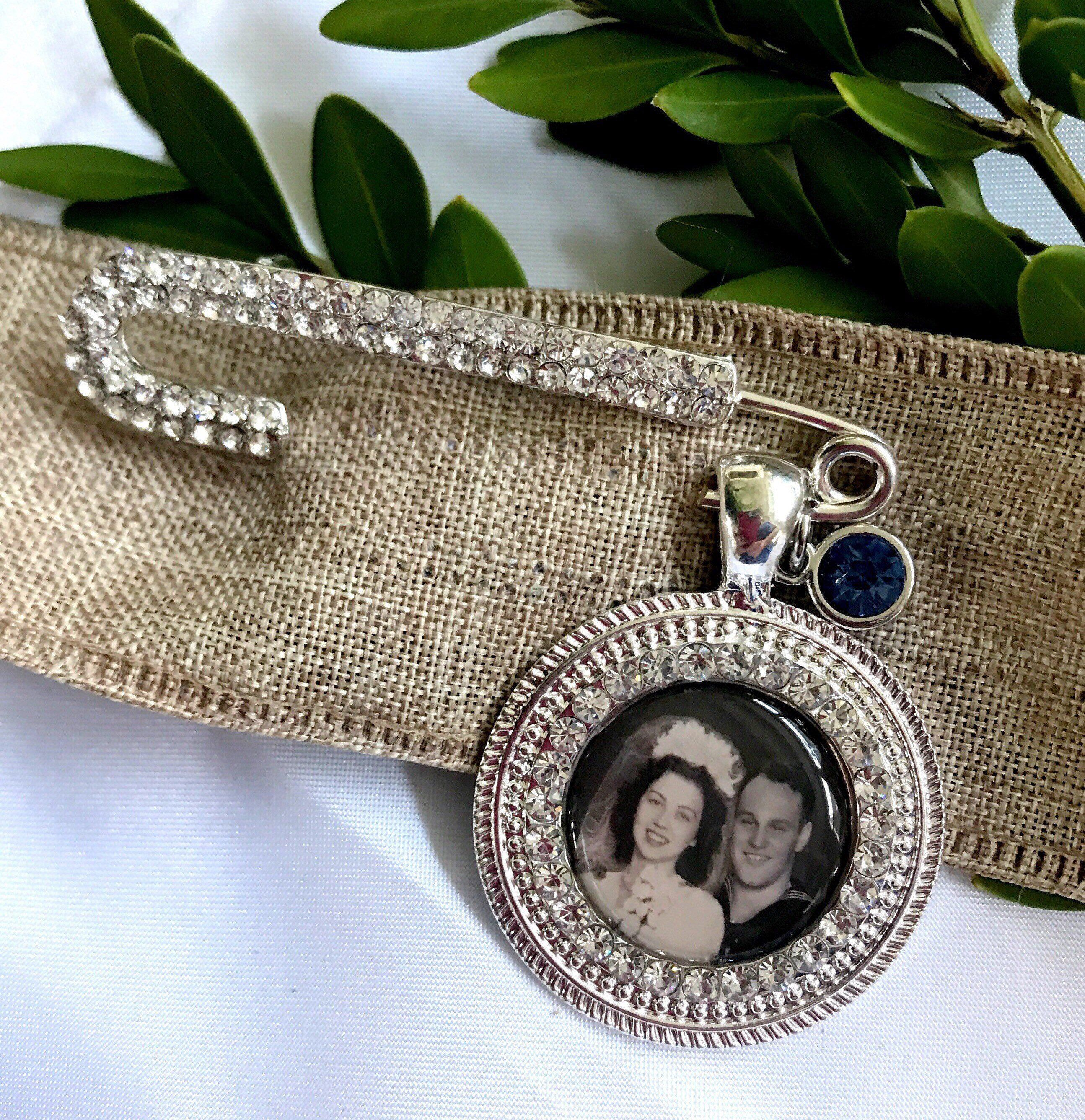 Custom made wedding bouquet photo charms to hang on your