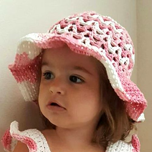 Valeries Sun Hat - Free Pattern (Crochet For Children) | Sommerhüte ...