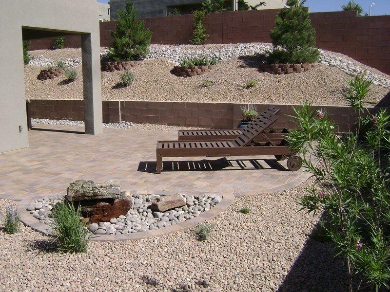 Lawnless Backyard Desert Backyard Southwestern Landscaping