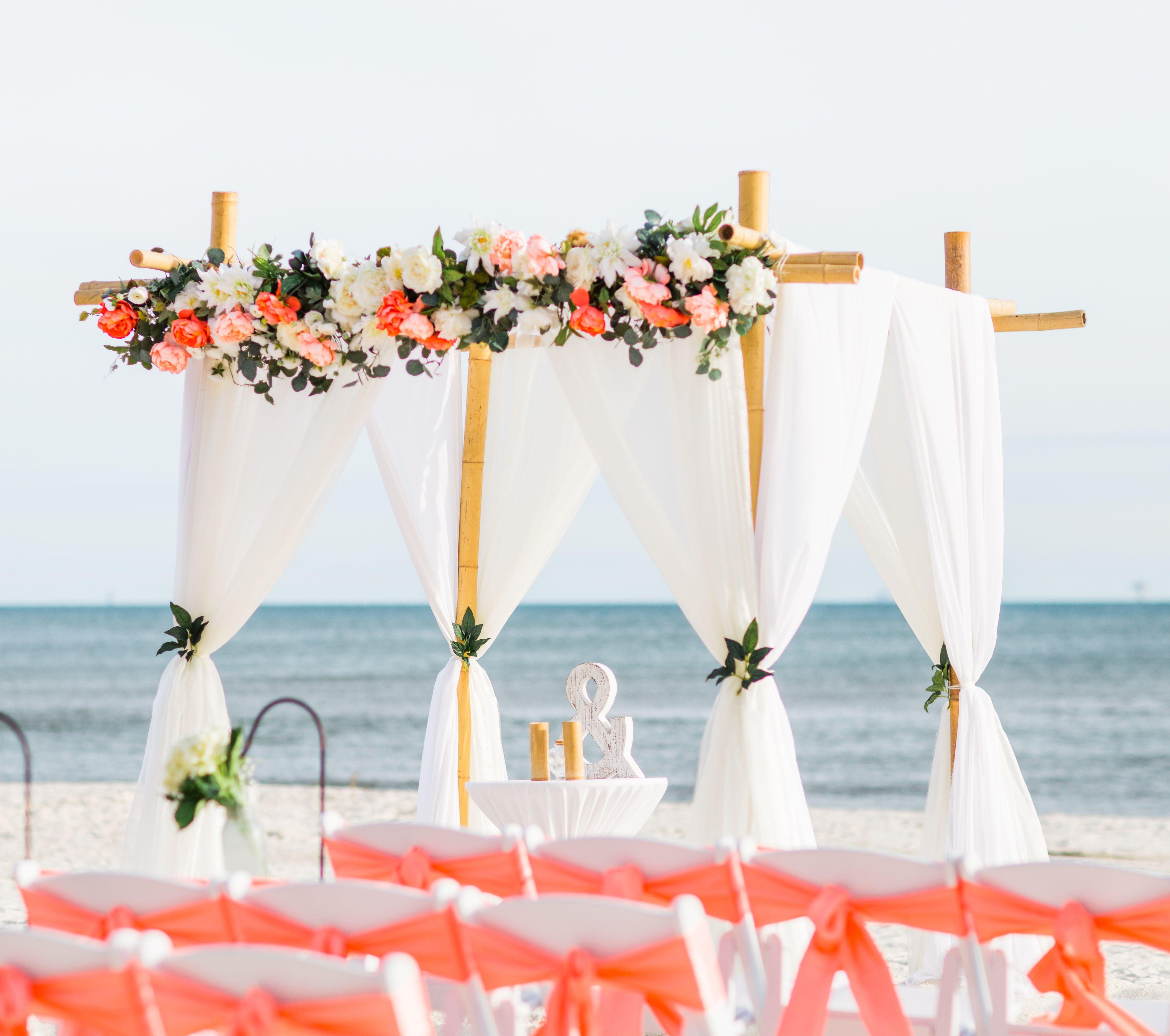 Coral Beach Wedding Beach Wedding Coral Wedding Arch Beach
