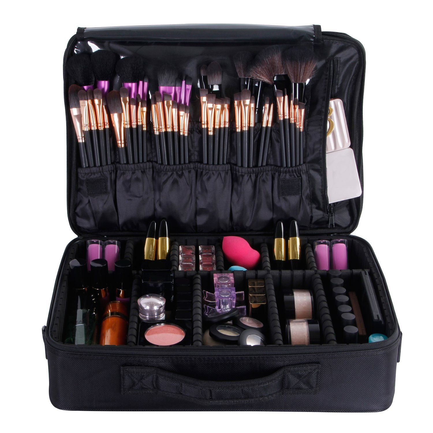 Valdler Black Professional 15  Makeup Bag Artist Cosmetic storage Bags  Organizer For Cosmetics Accessories -- To view further for this item d1a4766736eec