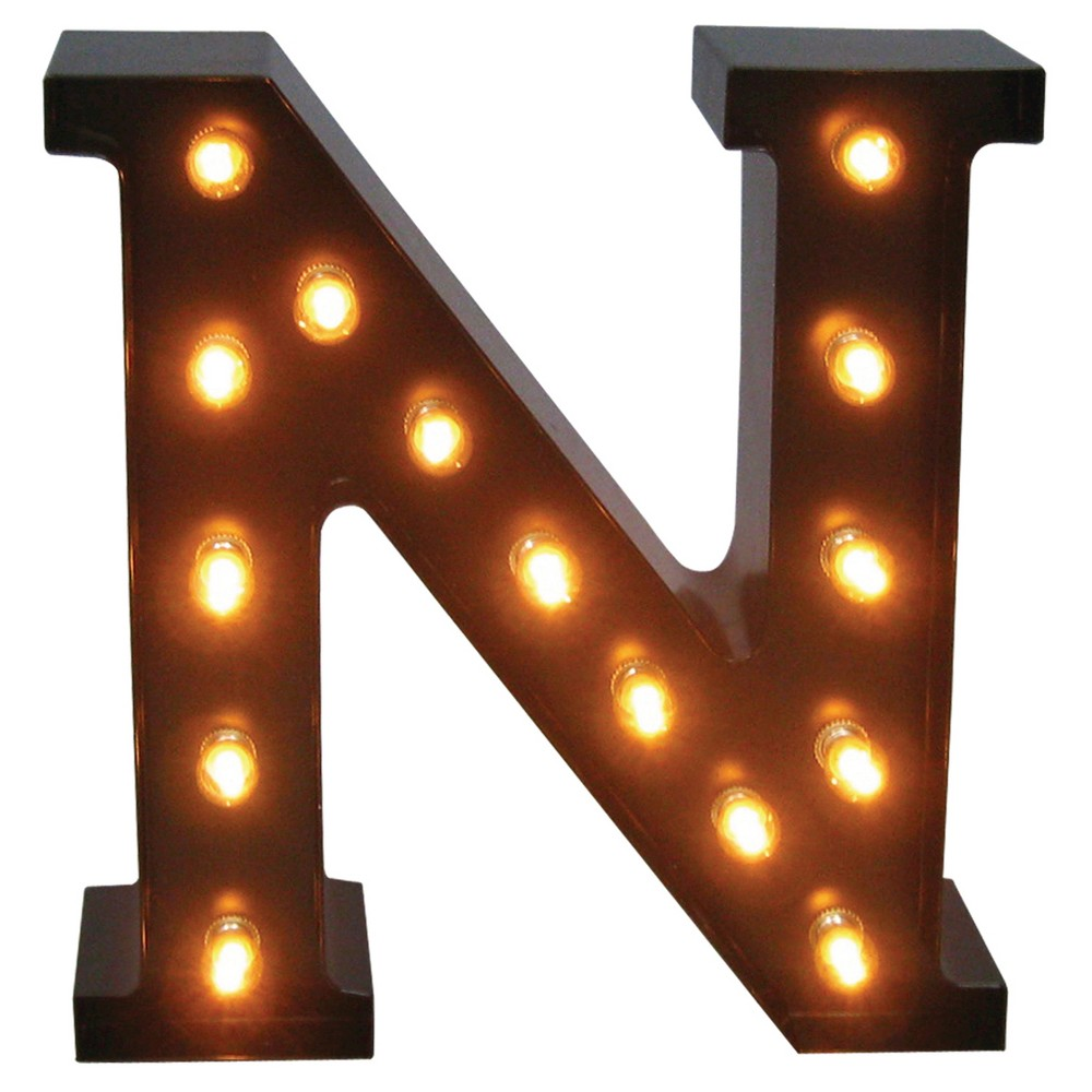 metal marquee letter small n threshold