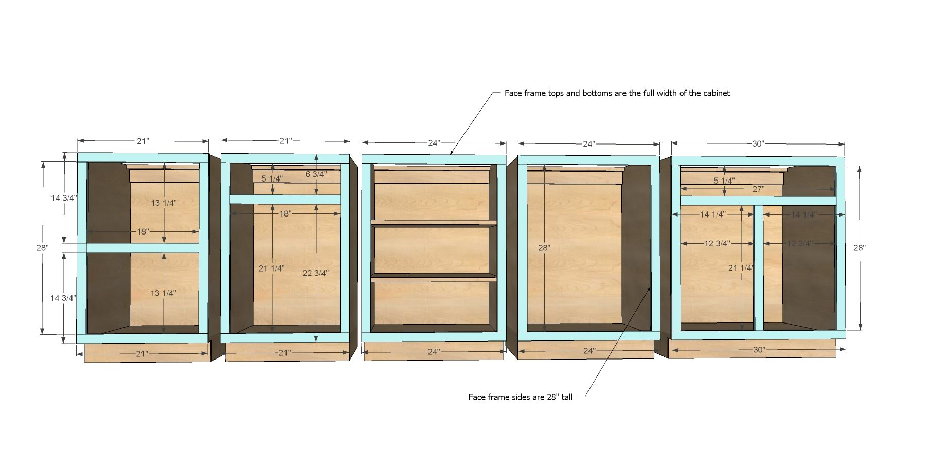 Ana white build a face frame base kitchen cabinet for Diy hutch plans