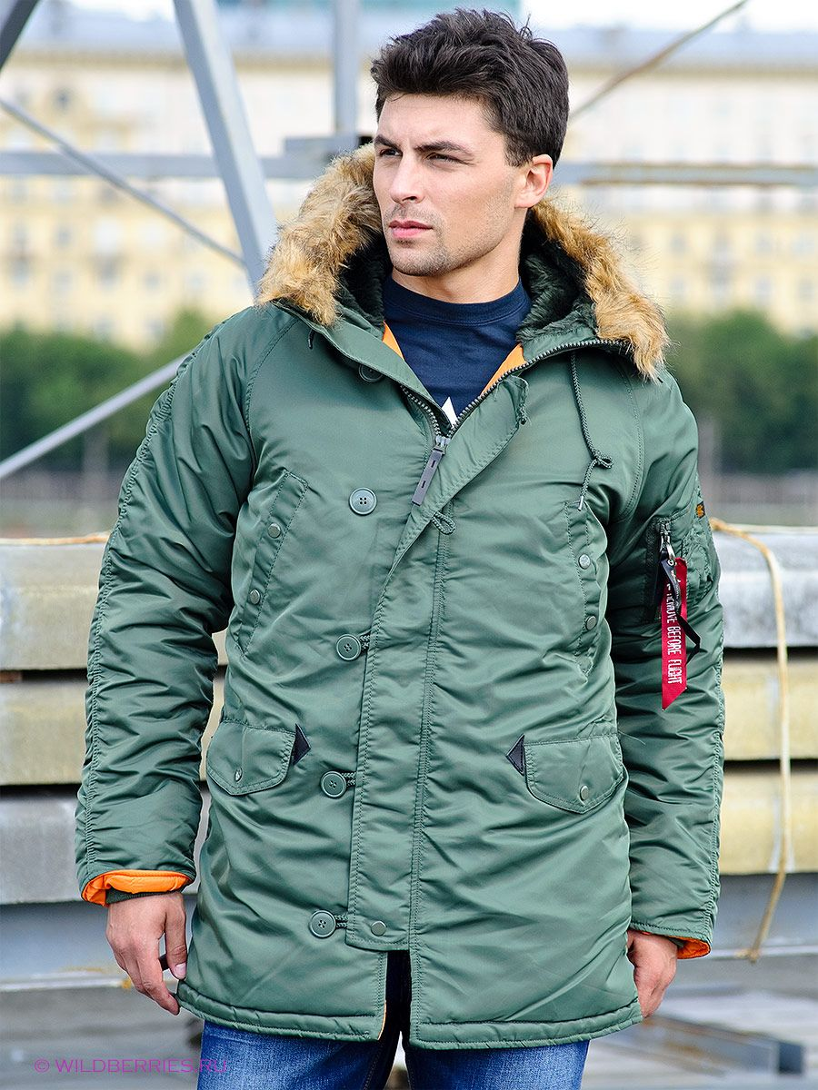 2ddf4c162c2 Куртка Slim Fit N-3B Parka  аляска  парка  куртка  мужская куртка  зимняя  куртка  usalpha.com