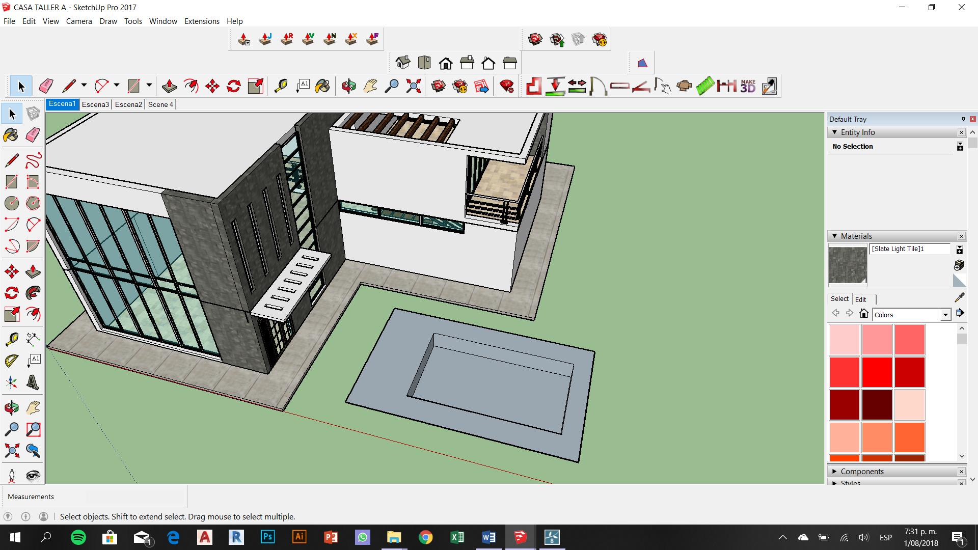 Modelado en SketchUp   Chart, Storage, Windows