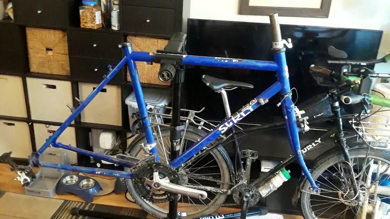 Pin on Surly LHT (Long Haul Trucker) touring bicycle and