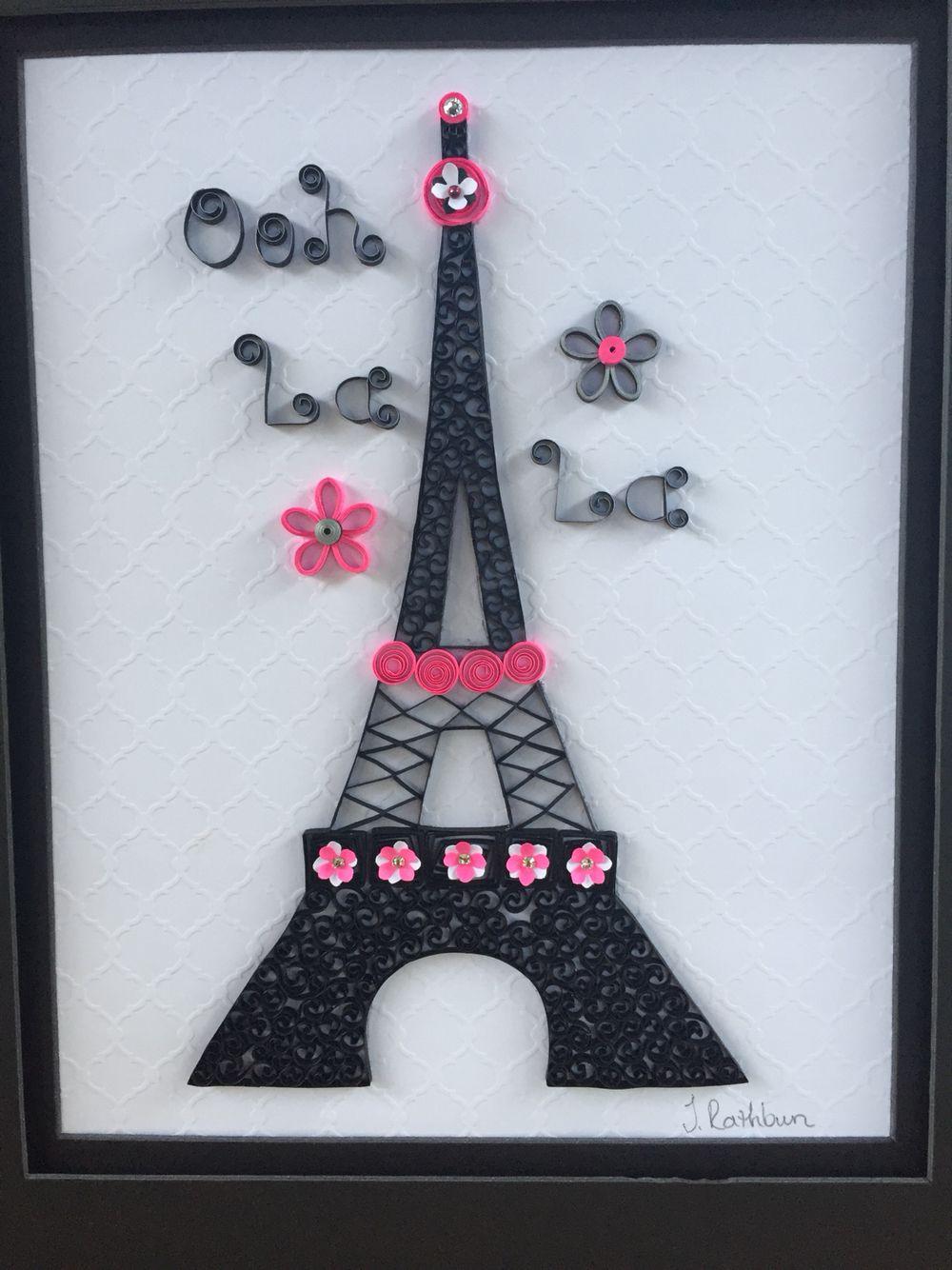 quilled eiffel tower quilling pinterest diy geschenke papier und geschenk. Black Bedroom Furniture Sets. Home Design Ideas