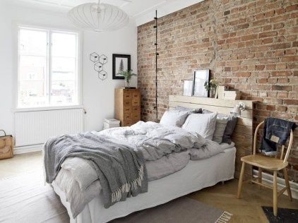 38 adorable bedrooms design ideas with exposed brick walls exposed brick walls exposed brick and bricks - Exposed Brick Wall Bedroom Ideas