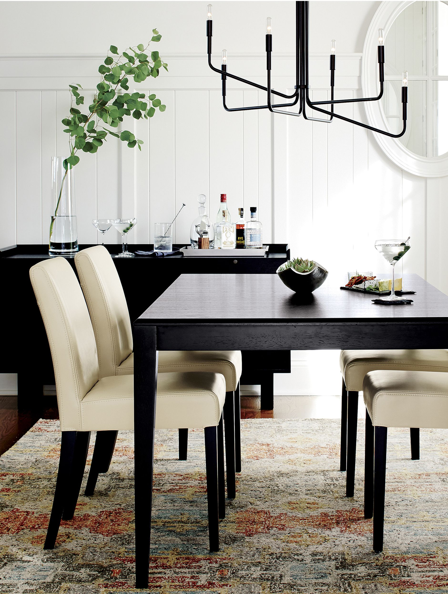 lowe ivory leather dining chair dining rooms leather dining rh pinterest com