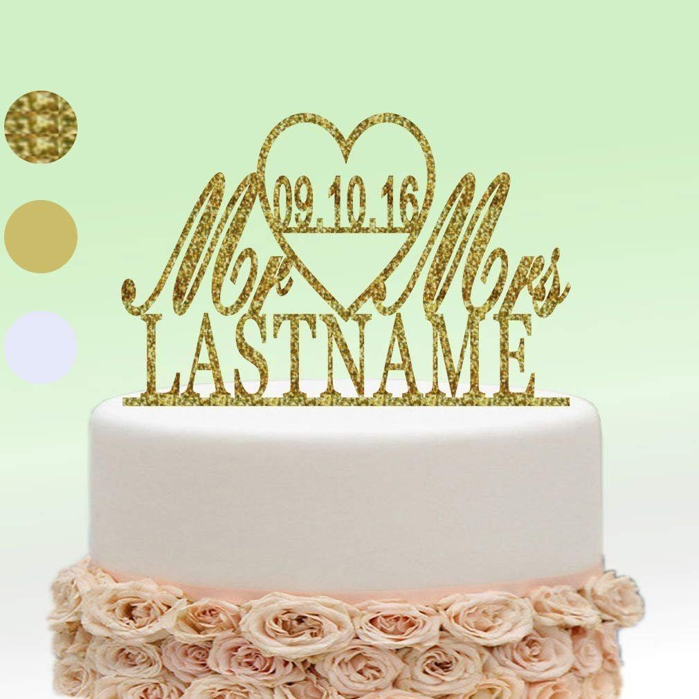 ivisi Personalized Wedding Cake Topper Decoration Anniversary Gift ...
